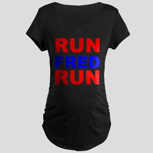 Run Fred Run Maternity Dark T-Shirt