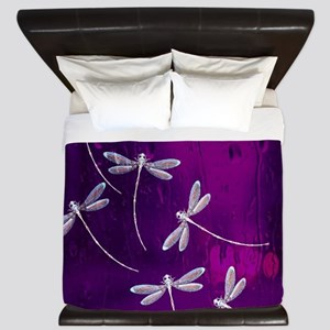 Dragonflies on water King Duvet
