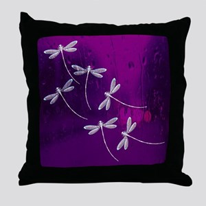 Dragonflies on water Throw Pillow