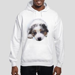 Blue Merle Pup Hooded Sweatshirt