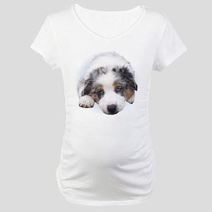 Blue Merle Pup Maternity T-Shirt