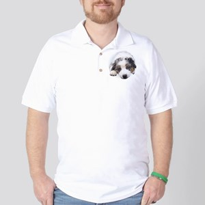 Blue Merle Pup Golf Shirt