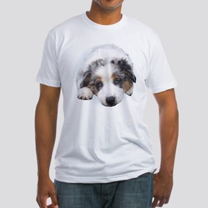 Blue Merle Pup Fitted T-Shirt