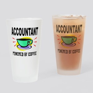 Accountant Powered By Coffee Drinking Glass