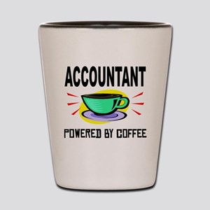 Accountant Powered By Coffee Shot Glass