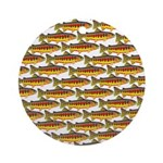 Golden Trout Pattern Ornament (Round)