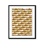 Golden Trout Pattern Framed Panel Print