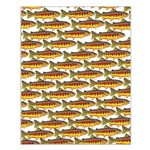 Golden Trout Pattern Posters