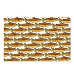 Golden Trout Pattern Postcards (Package of 8)