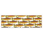 Golden Trout Pattern Bumper Sticker