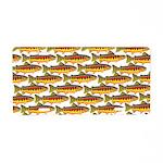 Golden Trout Pattern Aluminum License Plate