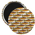 Golden Trout Pattern Magnets