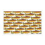 Golden Trout Pattern Rectangle Car Magnet