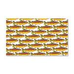 Golden Trout Pattern Car Magnet 20 x 12