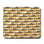 Golden Trout Pattern Mousepad