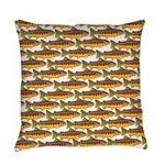 Golden Trout Pattern Everyday Pillow