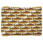 Golden Trout Pattern Pillow Sham