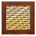 Golden Trout Pattern Framed Tile
