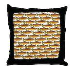Golden Trout Pattern Throw Pillow