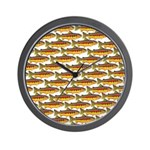 Golden Trout Pattern Wall Clock