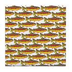 Golden Trout Pattern Tile Coaster