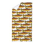 Golden Trout Pattern Beach Towel