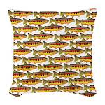 Golden Trout Pattern Woven Throw Pillow