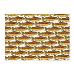 Golden Trout Pattern 5'x7'Area Rug