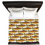 Golden Trout Pattern King Duvet