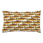 Golden Trout Pattern Pillow Case