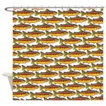 Golden Trout Pattern Shower Curtain