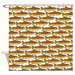 Golden Trout Pattern Shower Curtain