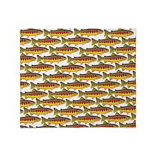 Golden Trout Pattern Throw Blanket