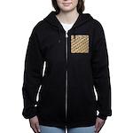 Golden Trout Pattern Women's Zip Hoodie