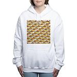 Golden Trout Pattern Women's Hooded Sweatshirt