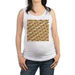 Golden Trout Pattern Maternity Tank Top