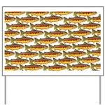 Golden Trout Pattern Yard Sign