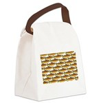 Golden Trout Pattern Canvas Lunch Bag