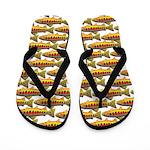 Golden Trout Pattern Flip Flops