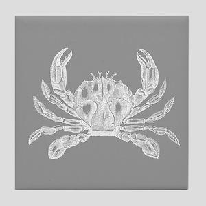 Grey Crab Tile Coaster