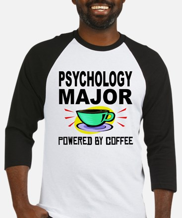 Psychology Major Powered By Coffee Baseball Jersey