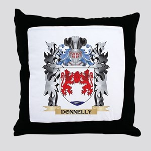 Donnelly Coat of Arms - Family Crest Throw Pillow