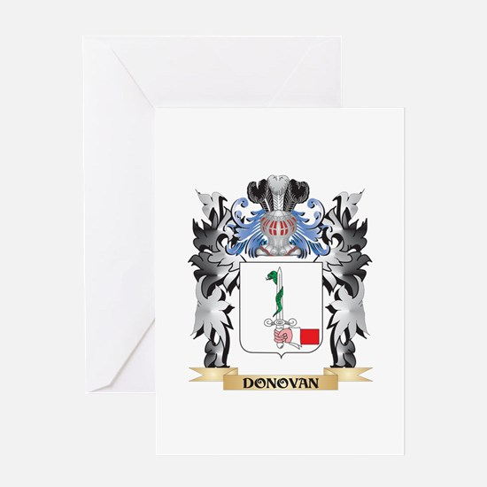 Donovan Coat of Arms - Family Crest Greeting Cards