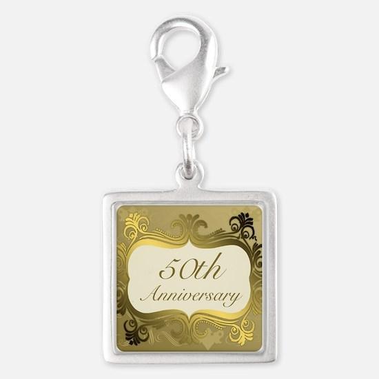 Fancy 50th Wedding Anniversary Charms