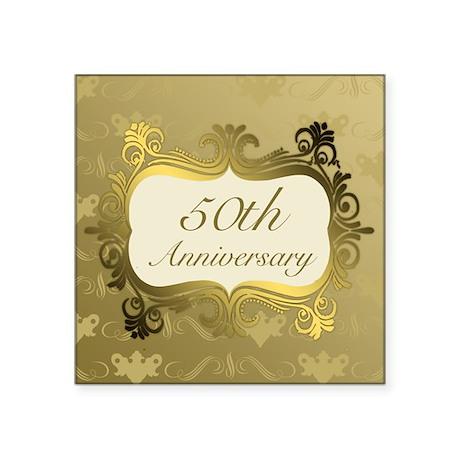 Nice Fancy 50th Wedding Anniversary Sticker