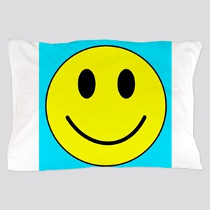 Yellow Happy Face Pillow Case