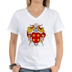Tojal Family Crest Women's V-Neck T-Shirt
