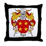 Tojal Family Crest Throw Pillow