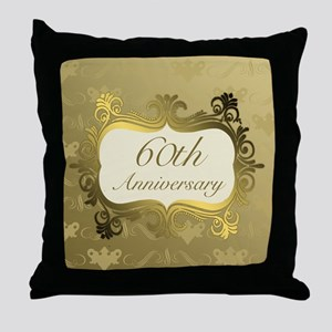 Fancy 60th Wedding Anniversary Throw Pillow