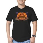 Jack-O-Lantern Men's Fitted T-Shirt (dark)